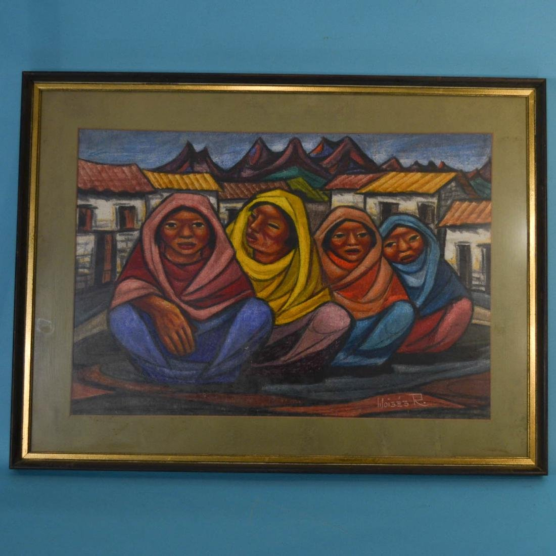 Raphael Moises Mexican Painting