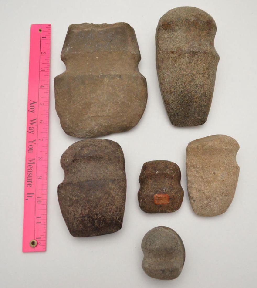 Lot Of Native American  Full Grooved Axes