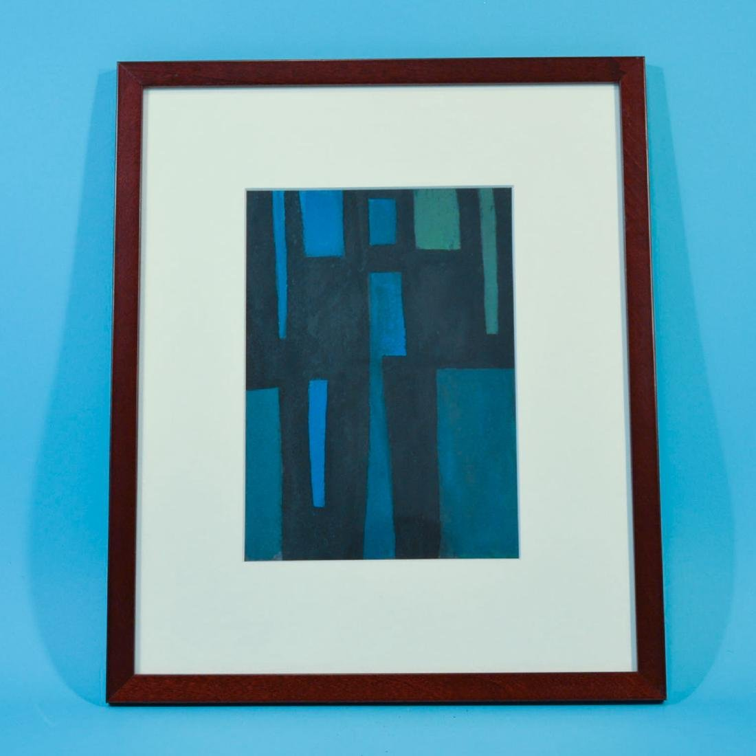 RJ Wolff 1962 Small Abstract Painting on Paper