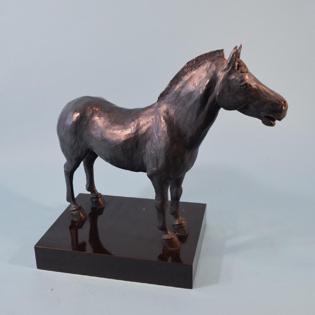 Illegibly Signed 1985 Signed Bronze Horse