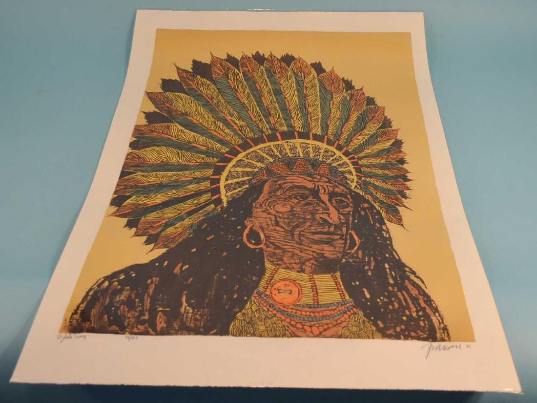 Antonio Frasconi  Wood Cut Oglala Sioux. 48/100