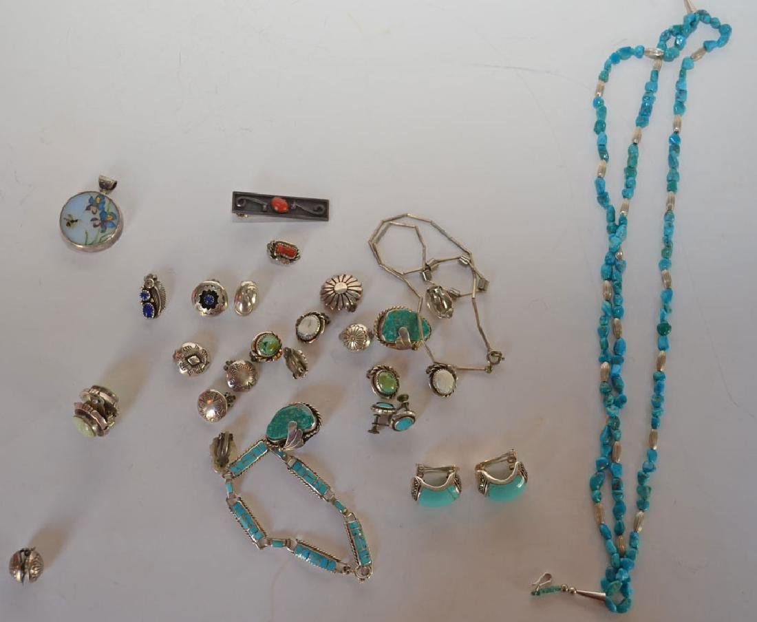 Lot of Most Native American Sterling & Turquoise