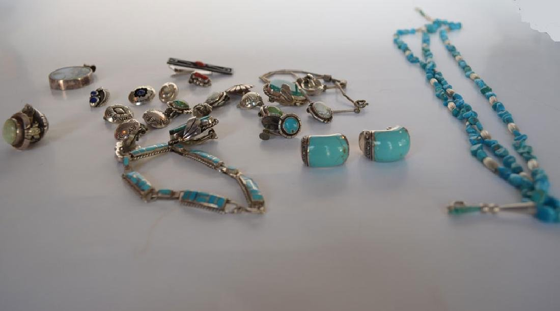 Lot of Most Native American Sterling & Turquoise - 2