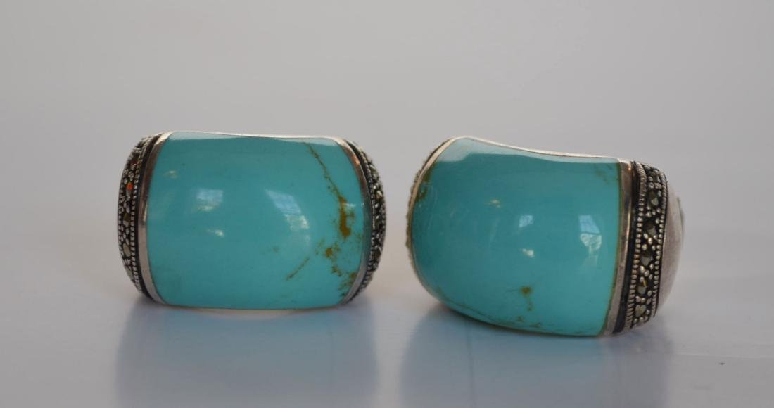 Lot of Most Native American Sterling & Turquoise - 3