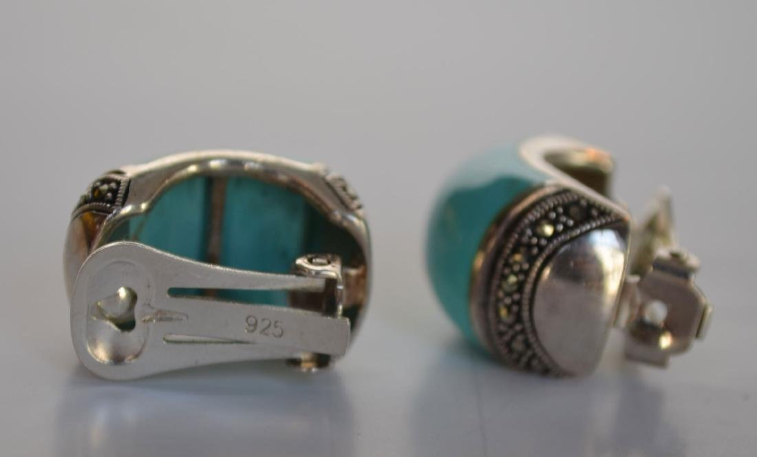 Lot of Most Native American Sterling & Turquoise - 4