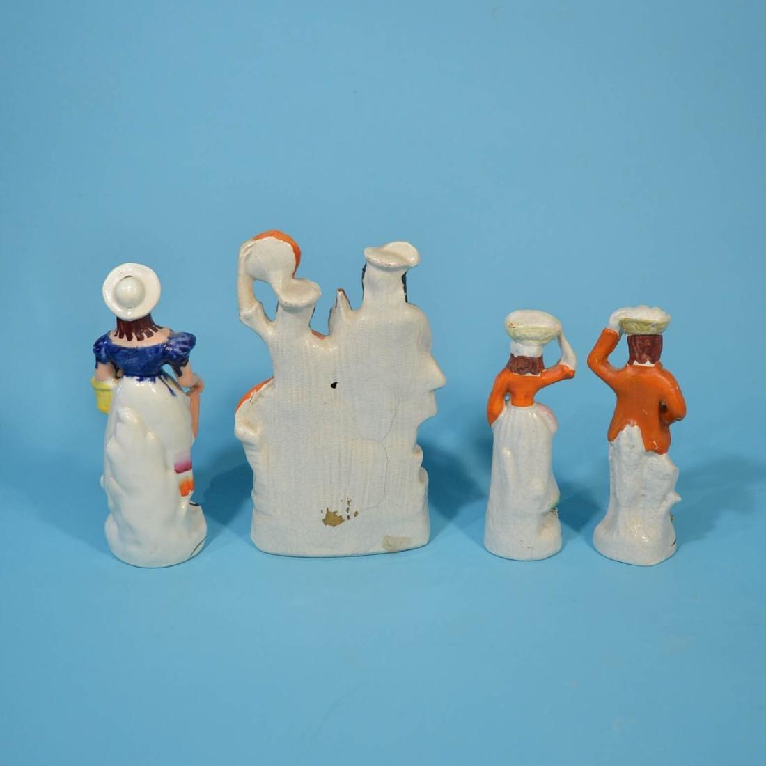6 Staffordshire Porcelain Figures - 5