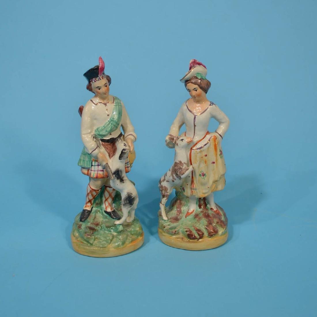 9 Staffordshire Porcelain Figures - 2