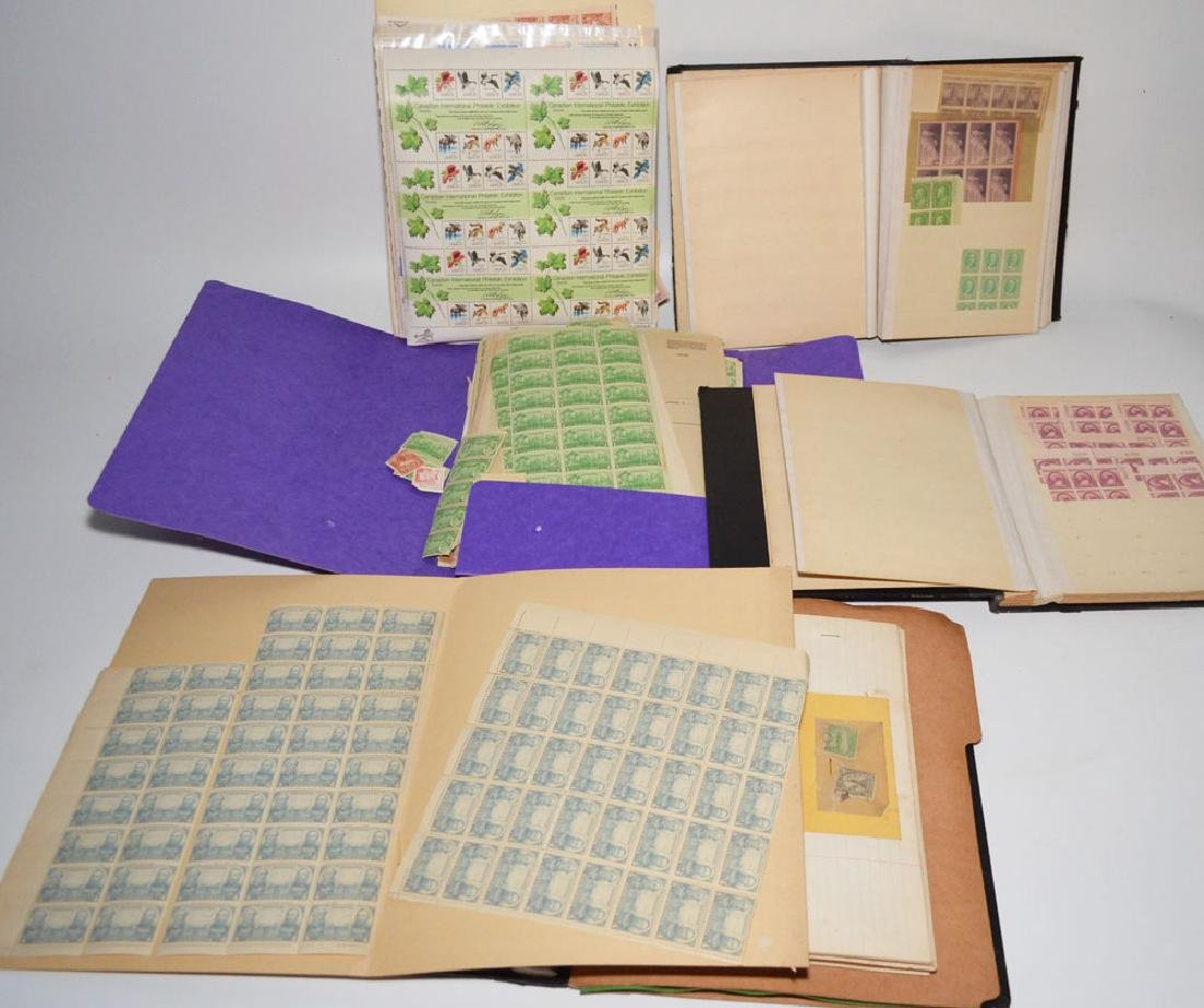 Large Lot Of Estate Found Stamps (American Sheets)