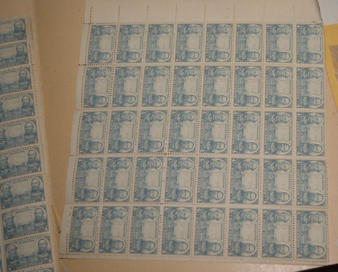 Large Lot Of Estate Found Stamps (American Sheets) - 2