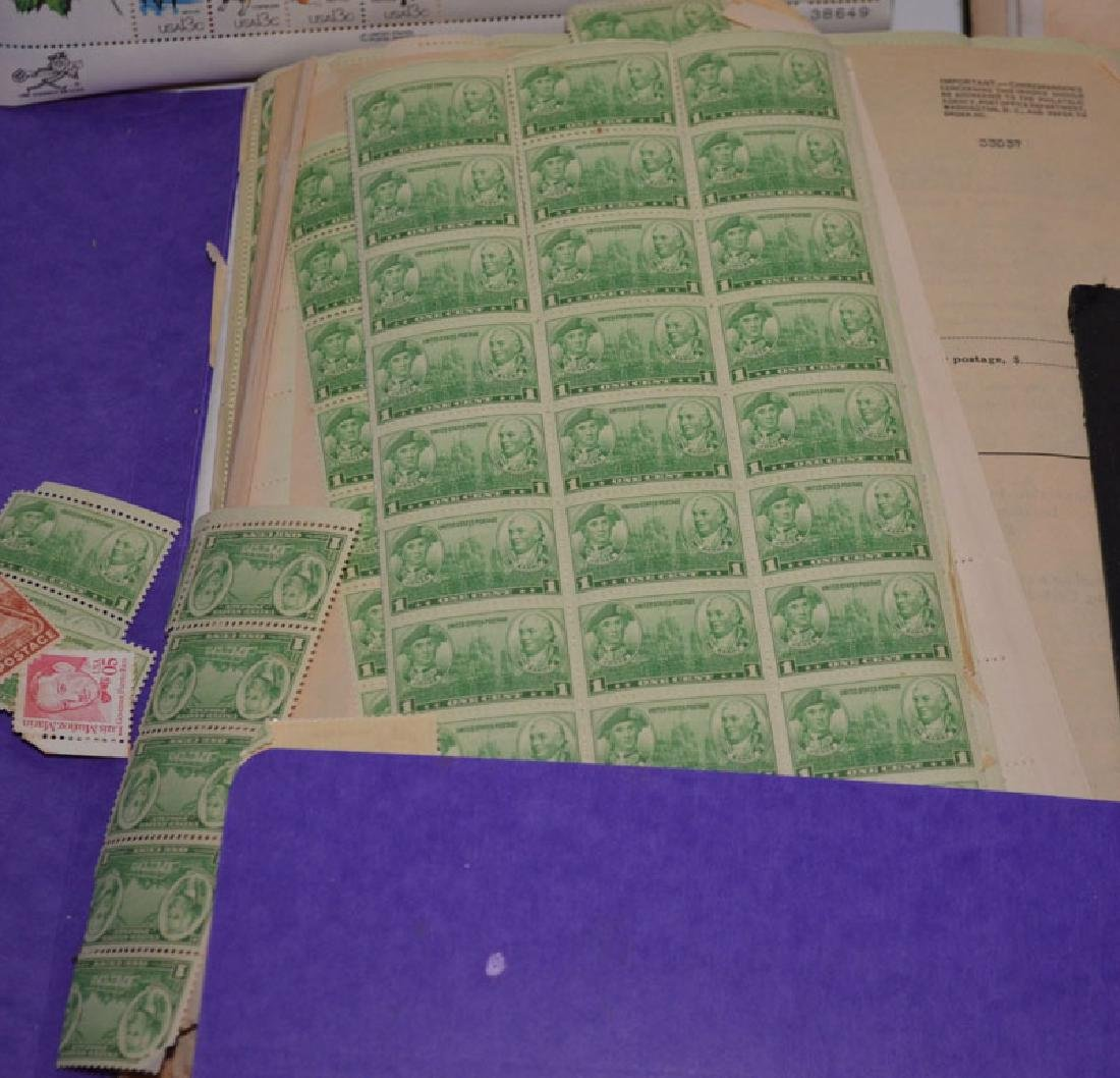 Large Lot Of Estate Found Stamps (American Sheets) - 3