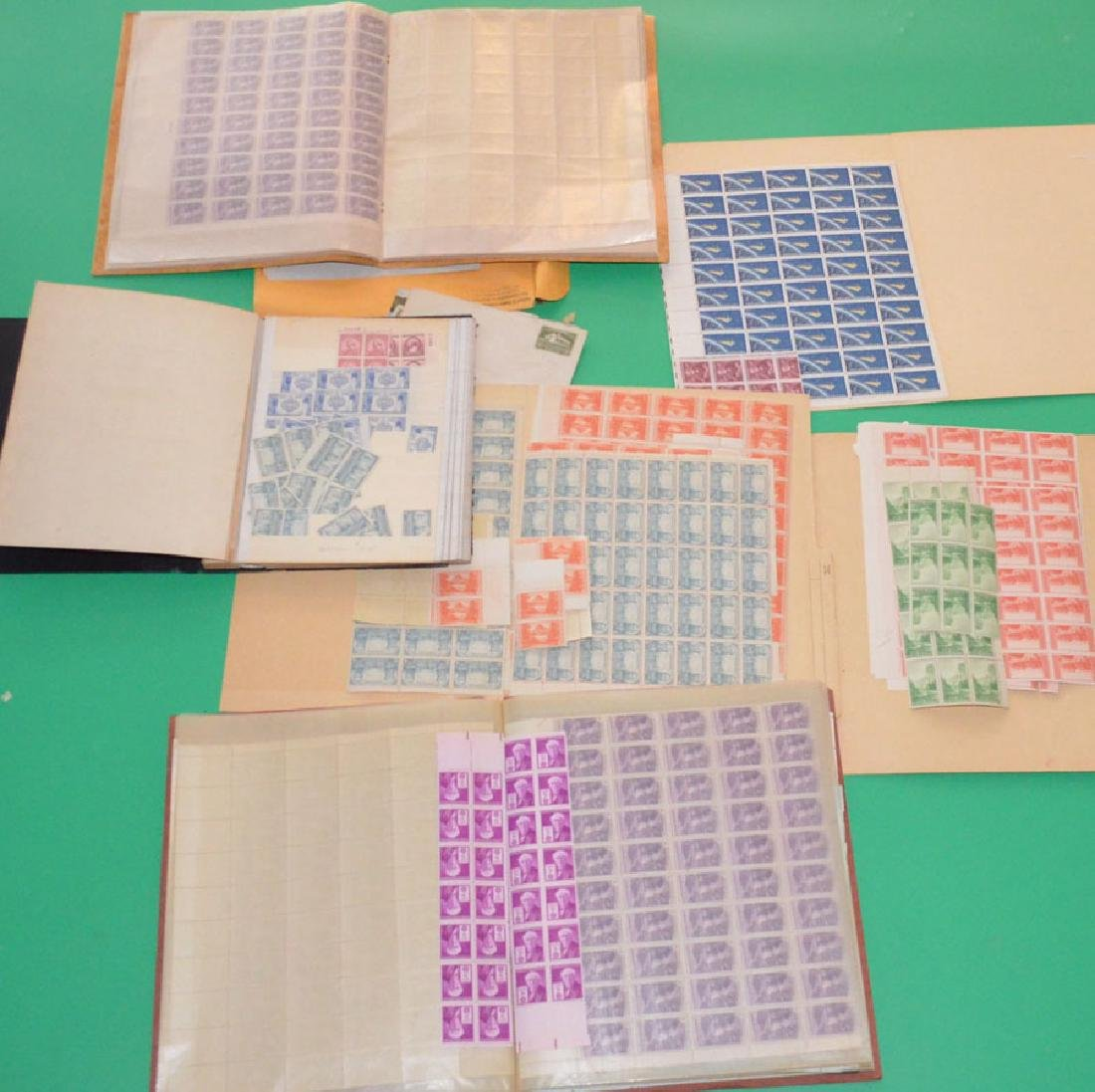 Large Lot Of Estate Found Stamps (American Sheets) - 4