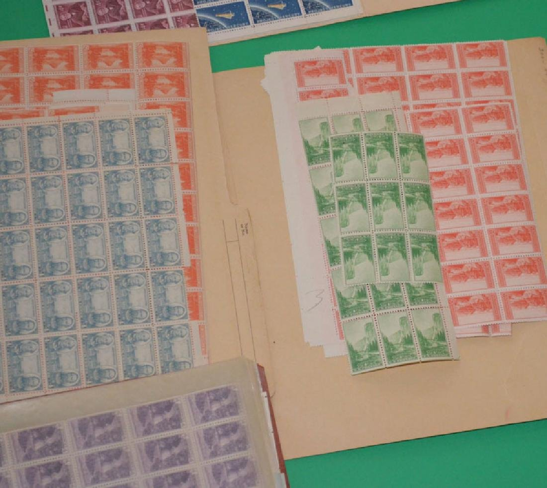 Large Lot Of Estate Found Stamps (American Sheets) - 5