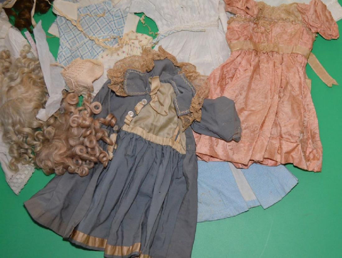 Miniature Antique Doll And Various  Doll Clothes - 4