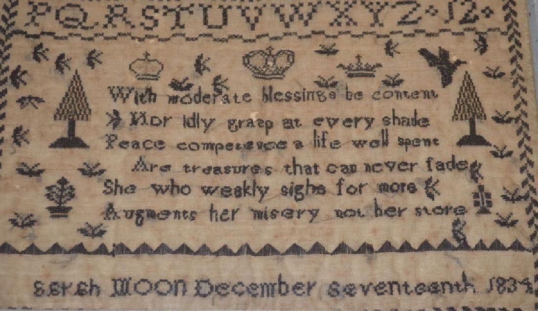 December 17th 1834 Sampler - 2