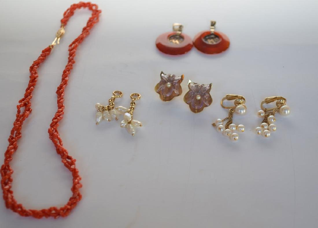 14k Gold Jewlery (Coral, Amethyst, Carnelian)