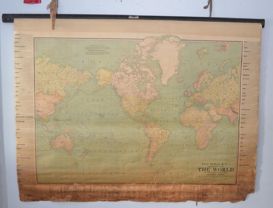2 Antique Maps Of The United States 1853, World