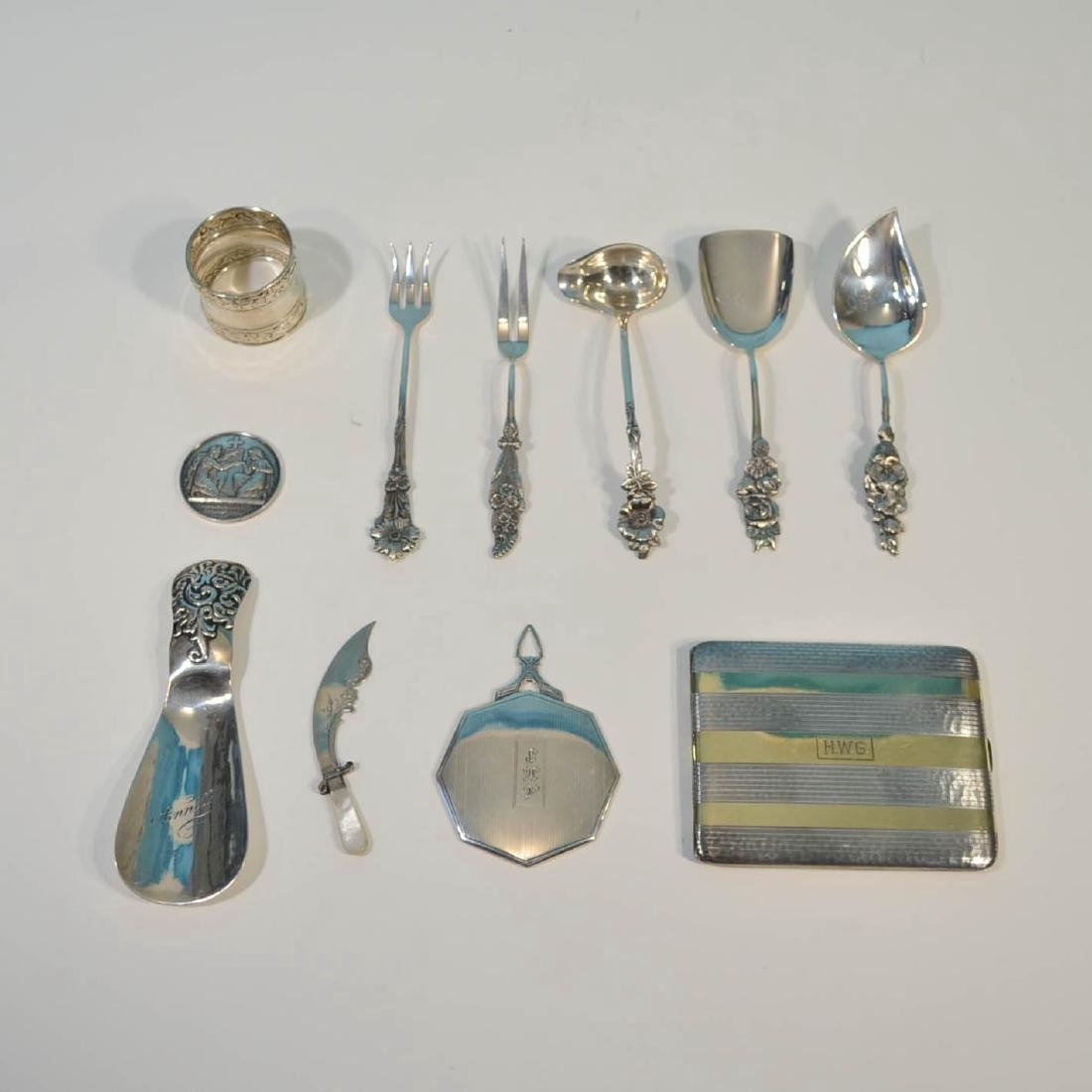 Generous Lot Of Vintage Sterling Silver Accessories