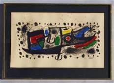Star Scene by Joan Miro Lithograph w COA