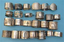 Sterling Silver & Plate Napkin Rings