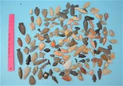 Large Group Of Misc Native American Arrowheads