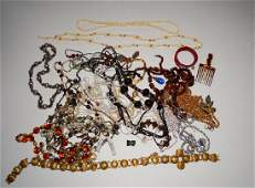 Vintage Costume Necklaces w Semi Precious Stones