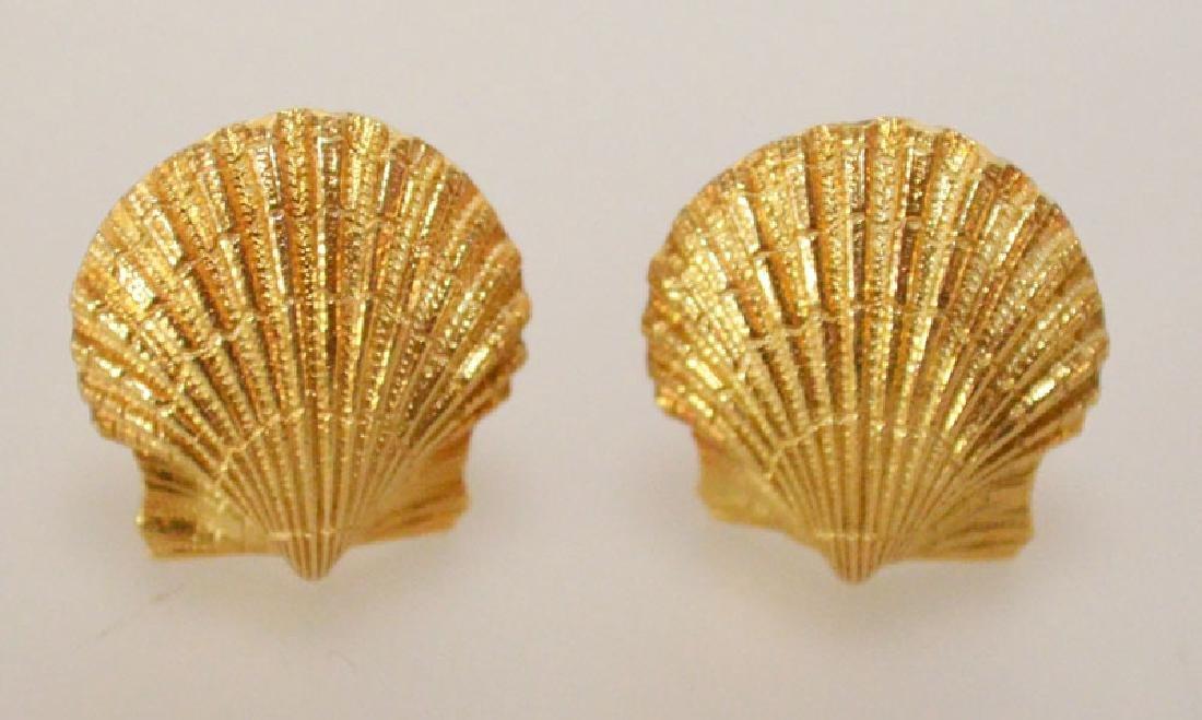 Tiffany & Co. Jean Schlumberger 18K  Seashell  Earrings