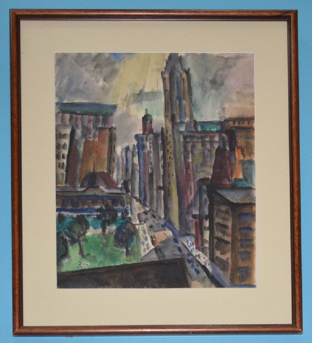 Nathaniel Dirk NYC Watercolor Painting