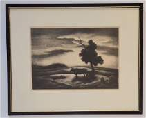 Thomas Hart Benton  Pencil Signed Litho  Sunset