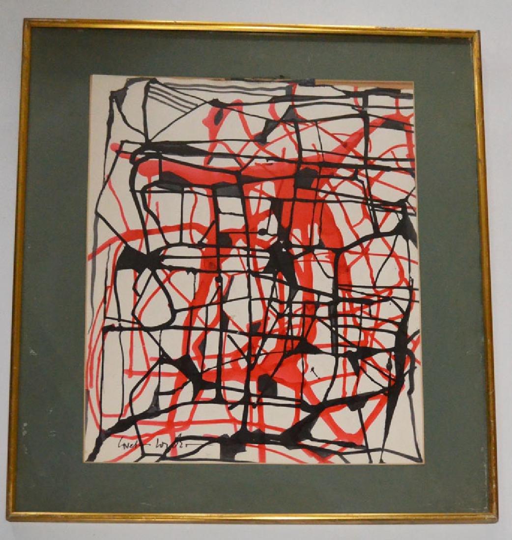 Boris Lovet-Lorski Abstract Painting on Paper