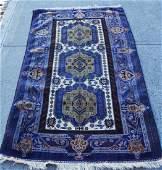 Nice Size Blue Oriental Carpet / Rug