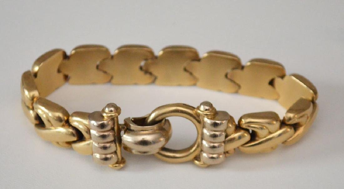 Fabulous Retro Italian 14k Gold Bracelet
