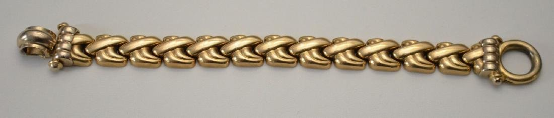 Fabulous Retro Italian 14k Gold Bracelet - 2