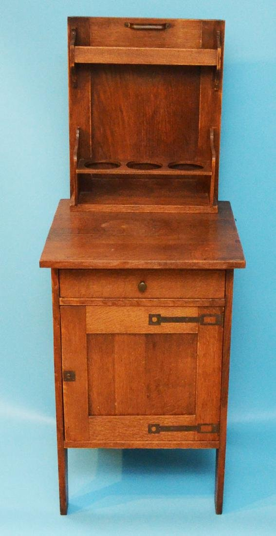 Hard To Find Oak Prohibition Cabinet