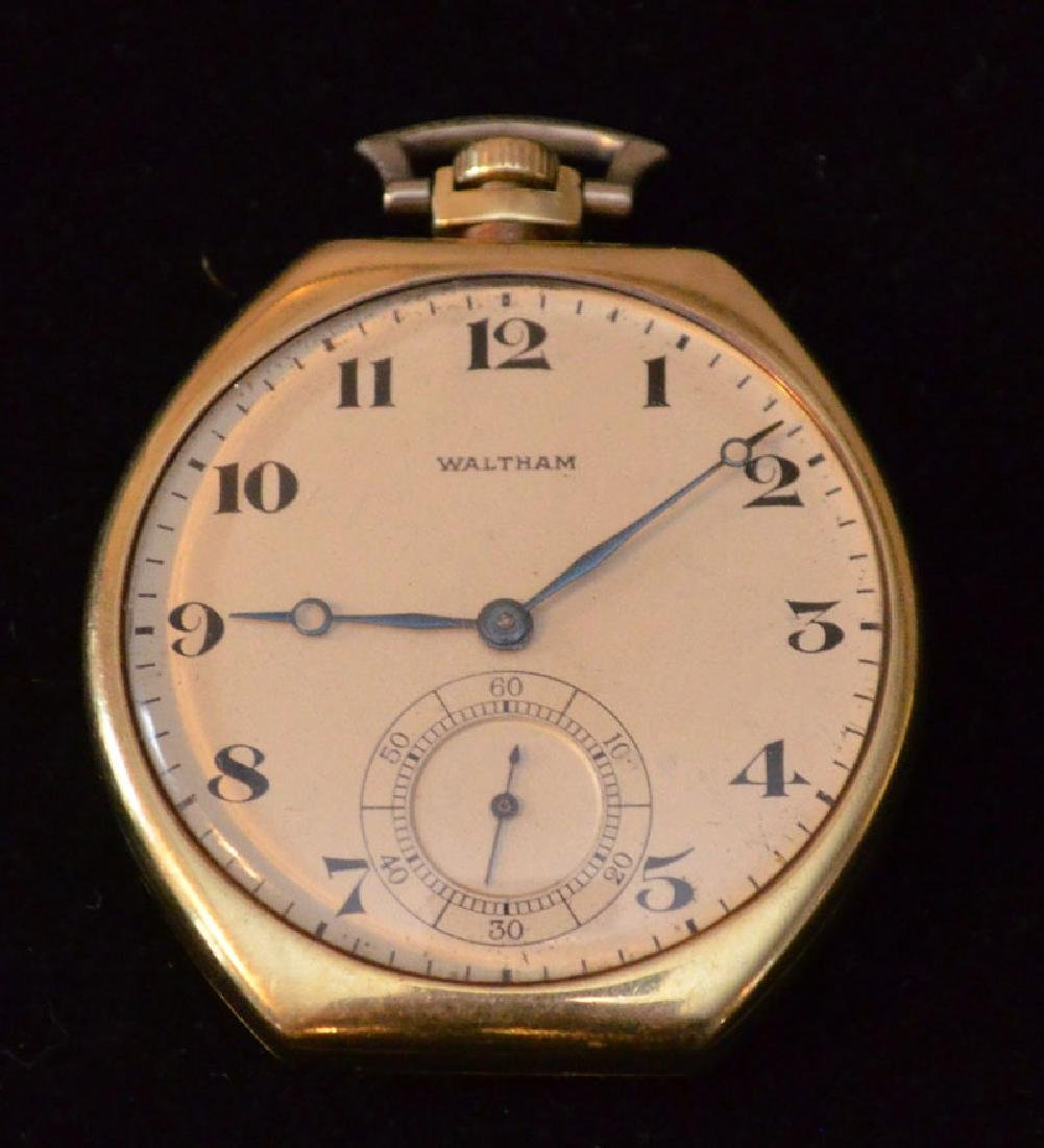 Waltham 14k Gold Pocket Watch (Elgin Giant Case)