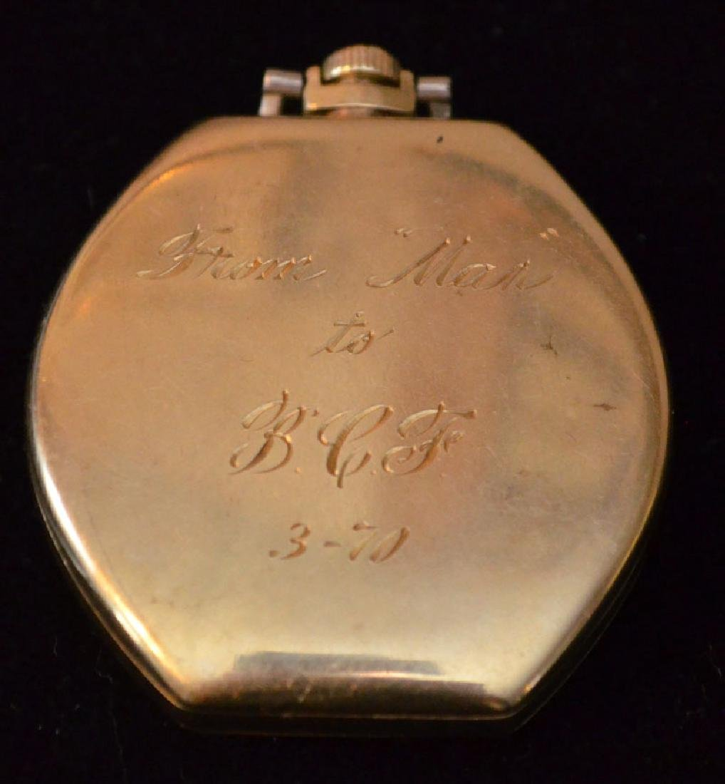 Waltham 14k Gold Pocket Watch (Elgin Giant Case) - 2