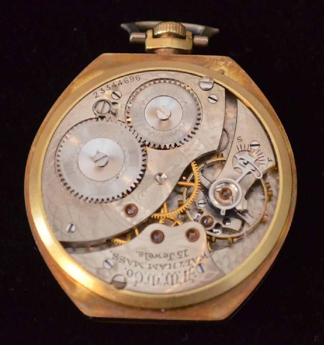 Waltham 14k Gold Pocket Watch (Elgin Giant Case) - 3