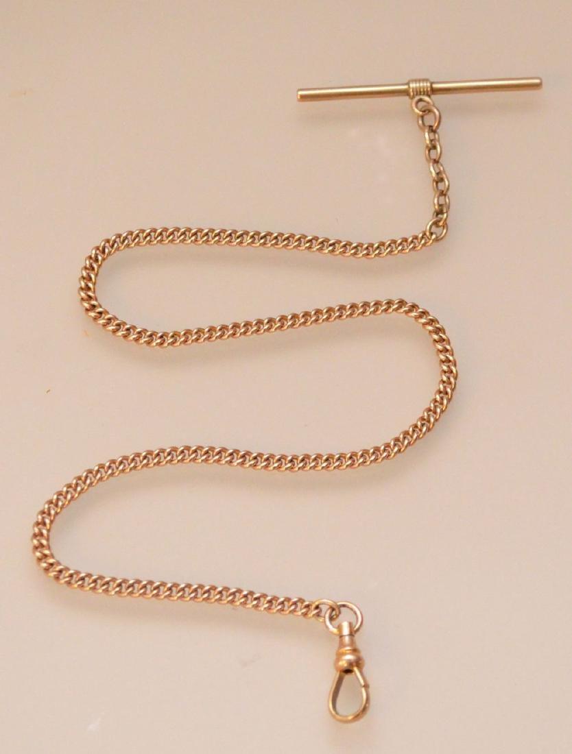 Simple & Elegant  10K Gold Watch Fob
