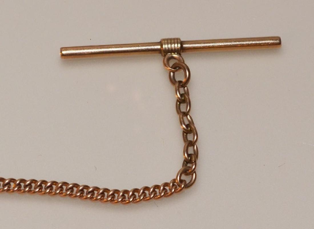 Simple & Elegant  10K Gold Watch Fob - 2
