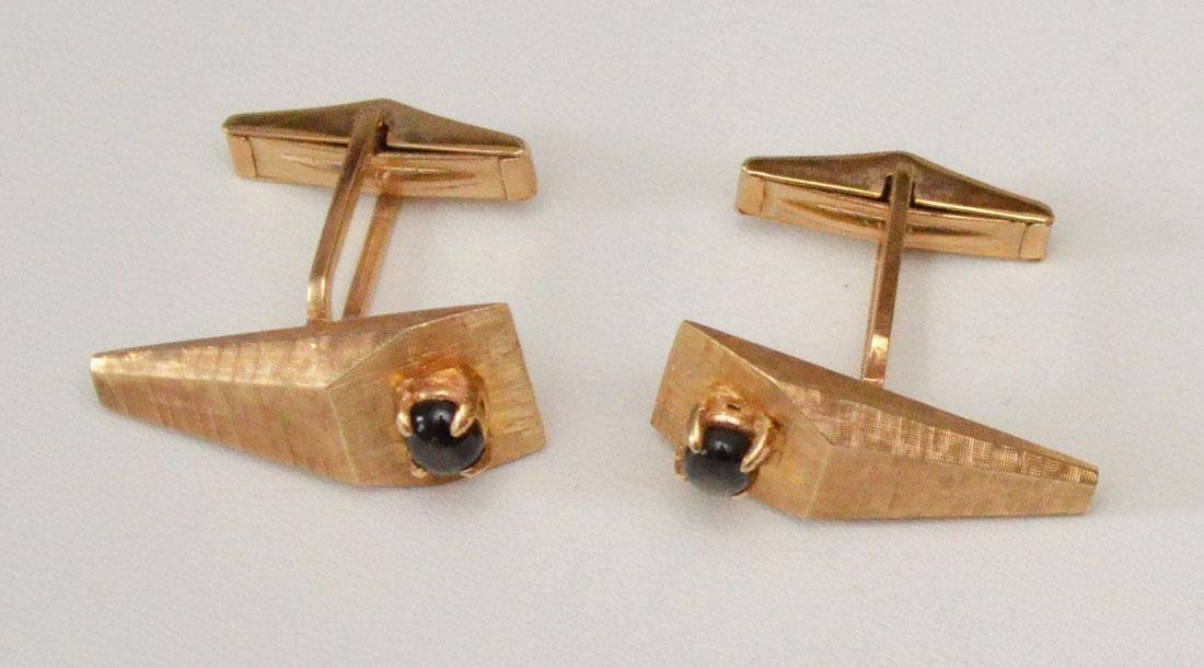 The Coolest Retro 60's 14k Gold Cufflinks