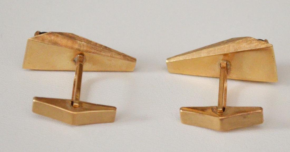 The Coolest Retro 60's 14k Gold Cufflinks - 3