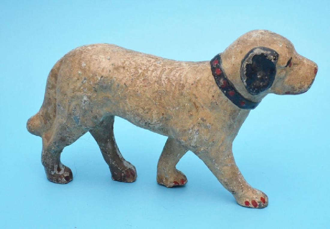 Vintage Painted Full Body Dog Doorstop - 3