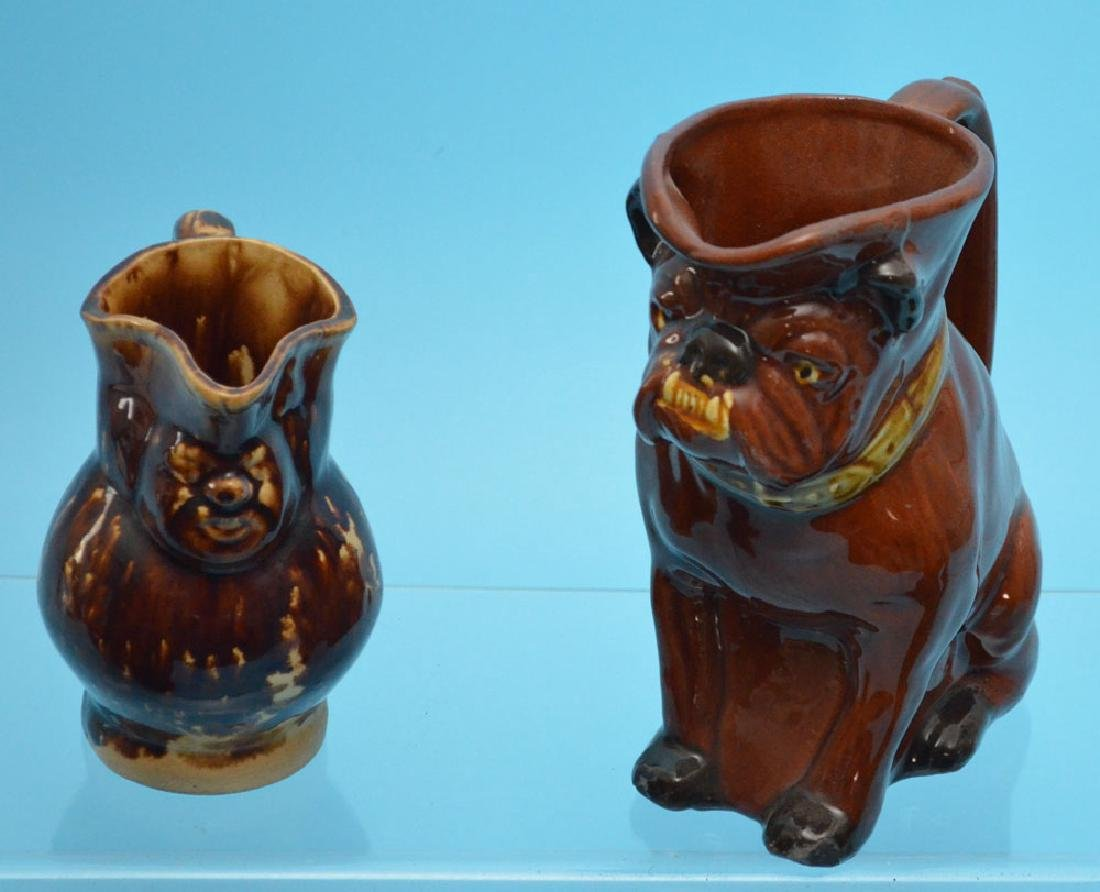 4 Bennington Figural Mugs & Face Pitcher - 2