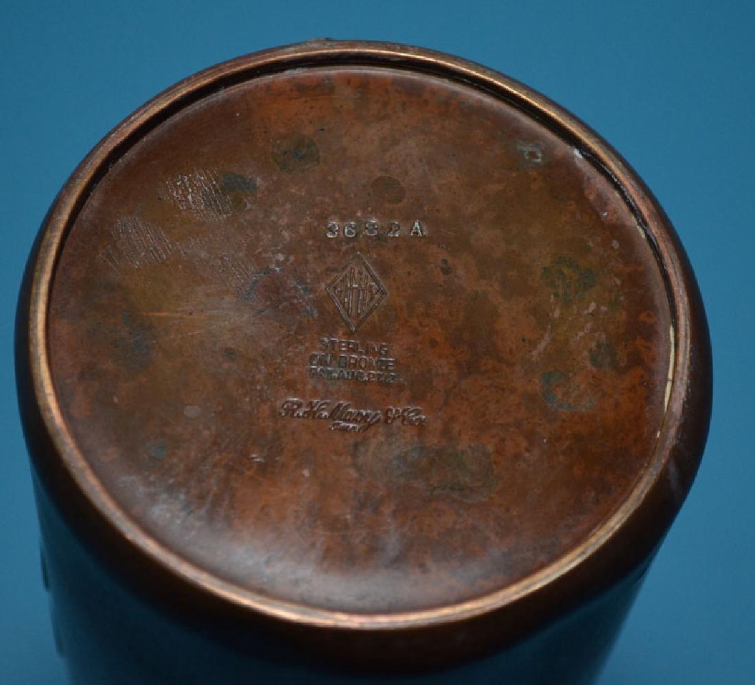Pr Of Silver Crest Arts & Crafts Sterling & Bronze - 2