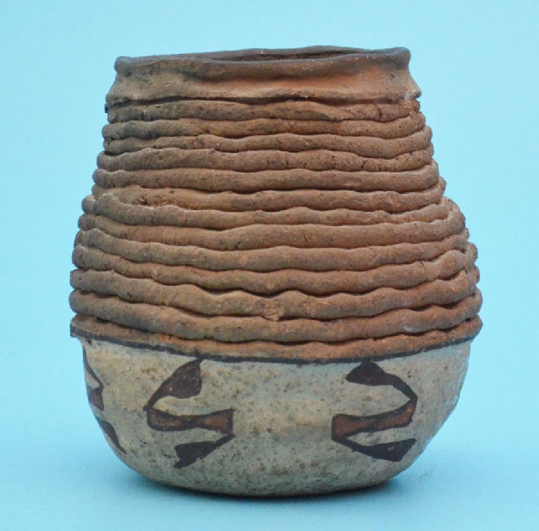 Prehistoric Anasazi Corrugated Painted Pottery Jar