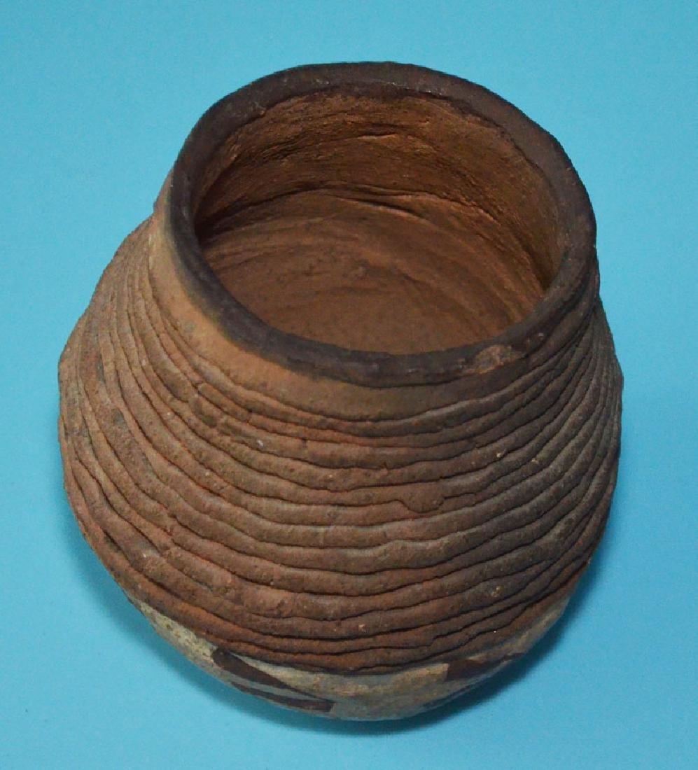 Prehistoric Anasazi Corrugated Painted Pottery Jar - 2
