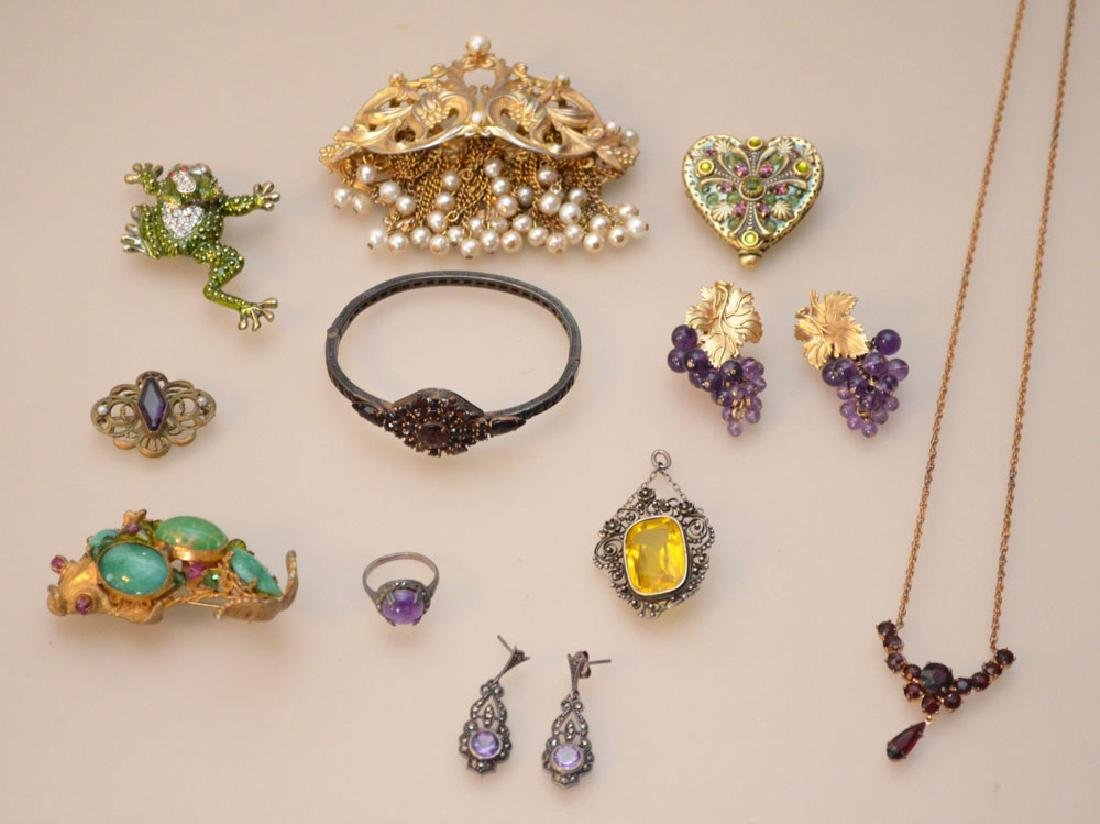 Nice  Lot Of Costume & Victorian Jewelry
