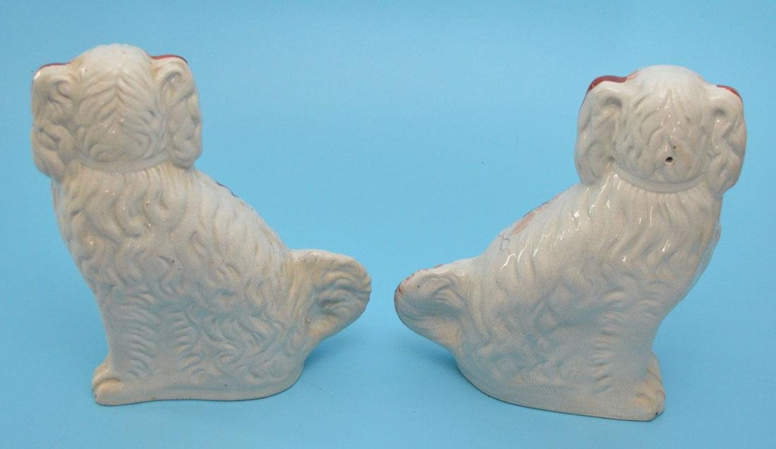 Pr of Staffordshire Porcelain King Charles Spaniel Dogs - 2