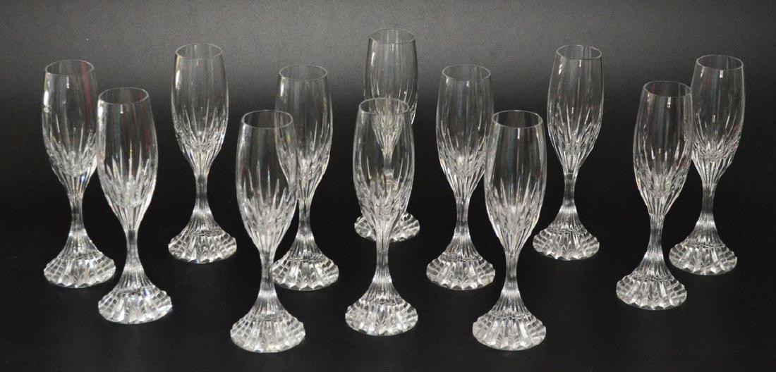 12 Baccarat Massena Champagne Flute Glasses