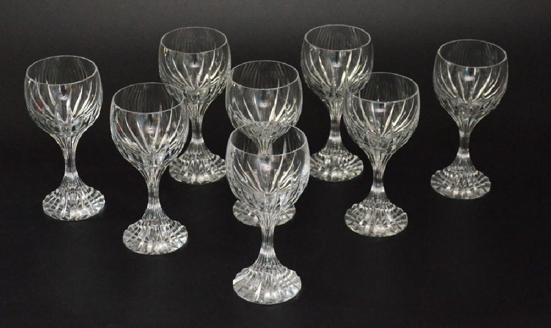 Set of 8 Baccarat Massena Water Goblet Glasses