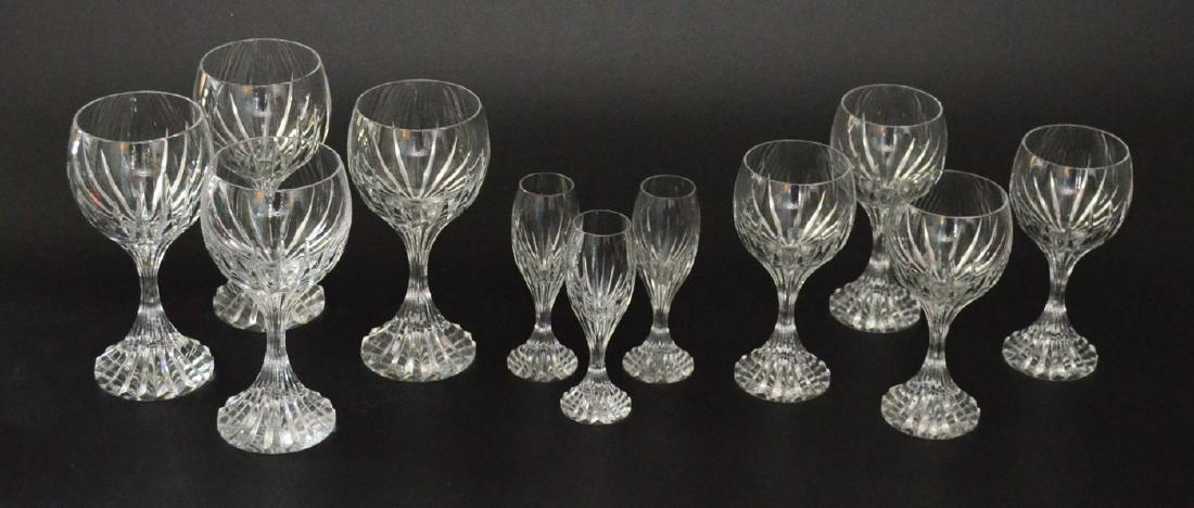 11 Baccarat Massena Glasses (Cordials, Water, Claret)